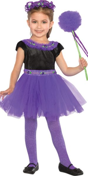 Toddler Girls Plum Purple Fairy Costume