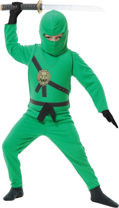 Boys Green Ninja Avenger Costume