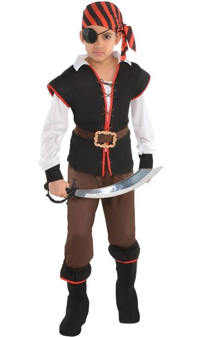 Boys Rebel of the Sea Pirate Costume - Party City