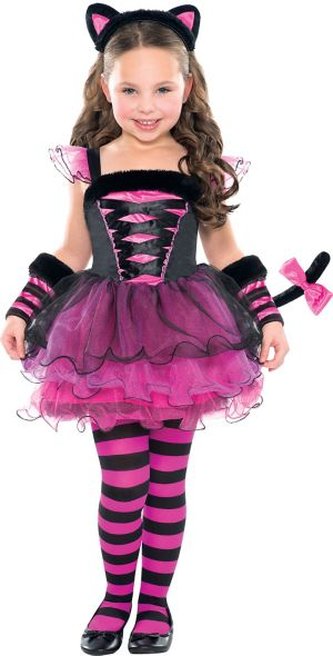 Girls Purrfect Ballerina Cat Costume