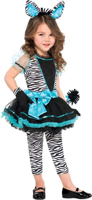 Girls Precious Zebra Costume