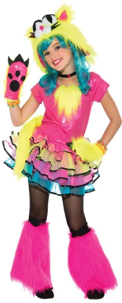 Girls Party Cat Costume