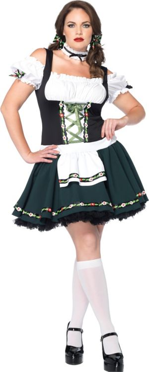 Adult Bavarian Babe Costume Plus Size