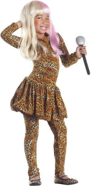 Girls Leopard Rap Superstar Costume