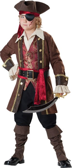 Boys Captain Skullduggery Pirate Costume Prestige