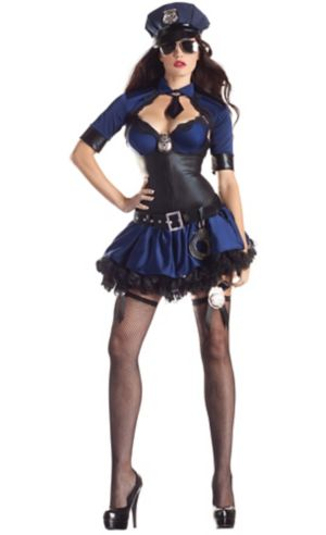 Adult Sultry Police Officer Body Shaper Costume