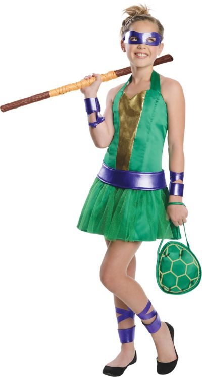 Teen Girls Donatello Costume - Teenage Mutant Ninja Turtles