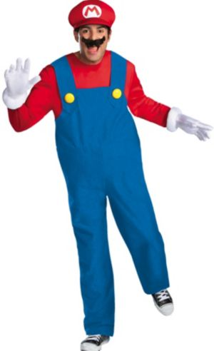 Adult Mario Costume Premium - Super Mario Brothers