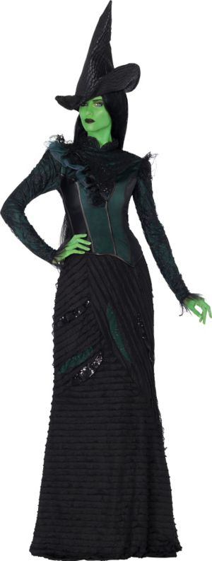 Adult Elphaba Costume Deluxe - Wicked