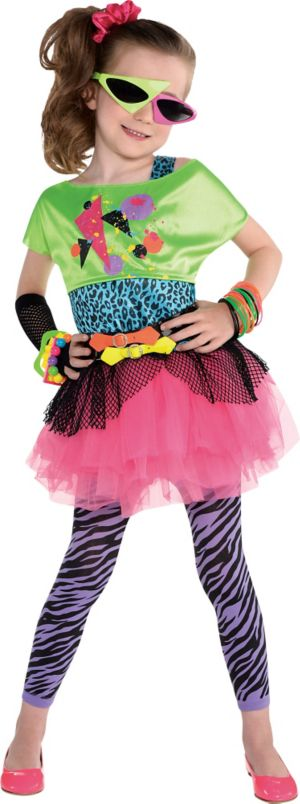 Little Girls Totally Awesome 80s Costume