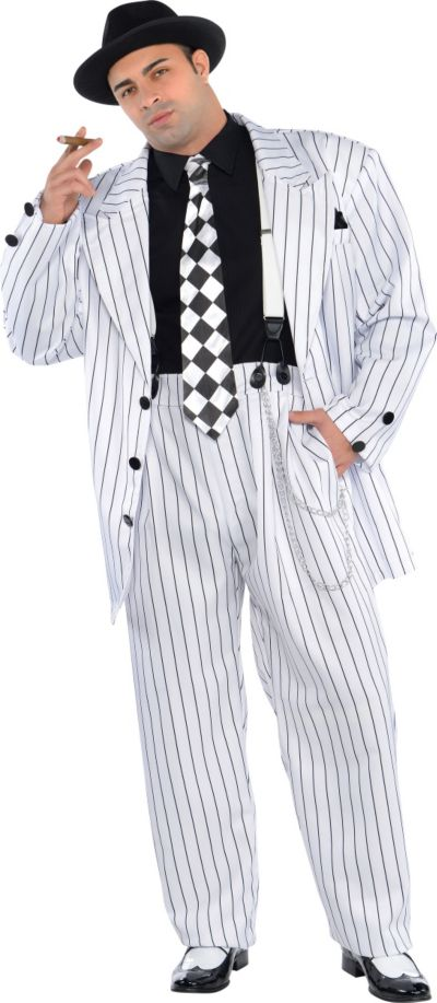Adult Pinstripe Daddy Costume Plus Size