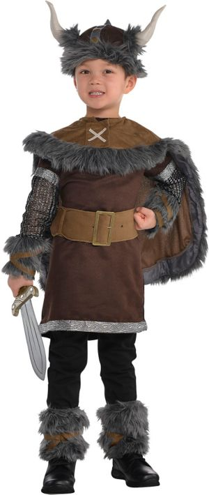 Little Boys Viking Warrior Costume