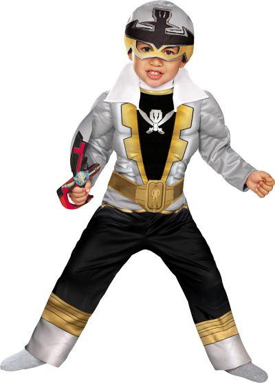 Toddler Boys Silver Ranger Muscle Costume - Power Rangers Super Megaforce