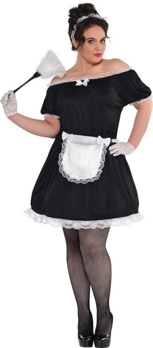 Adult French Maid Costume Plus Size