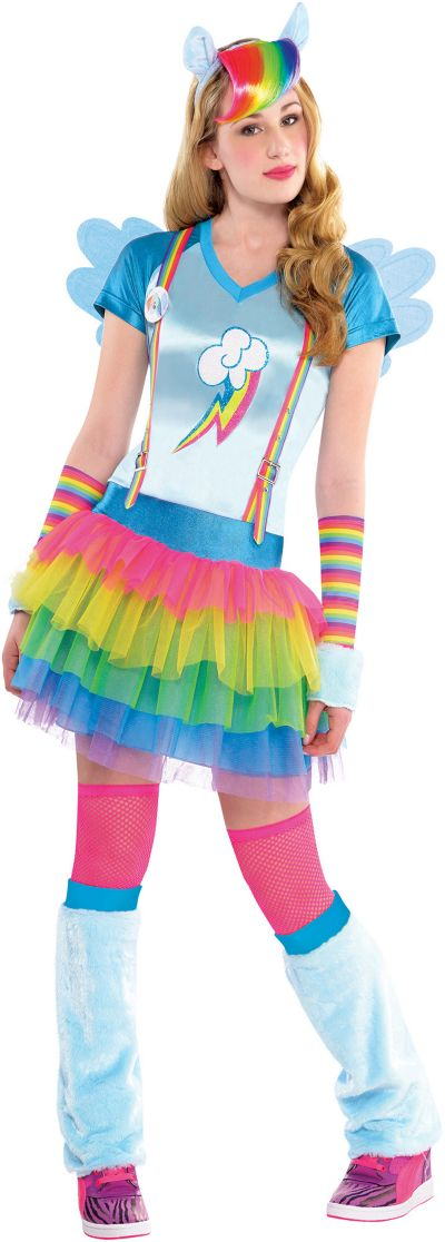 Teen Girls Rainbow Dash Costume - My Little Pony