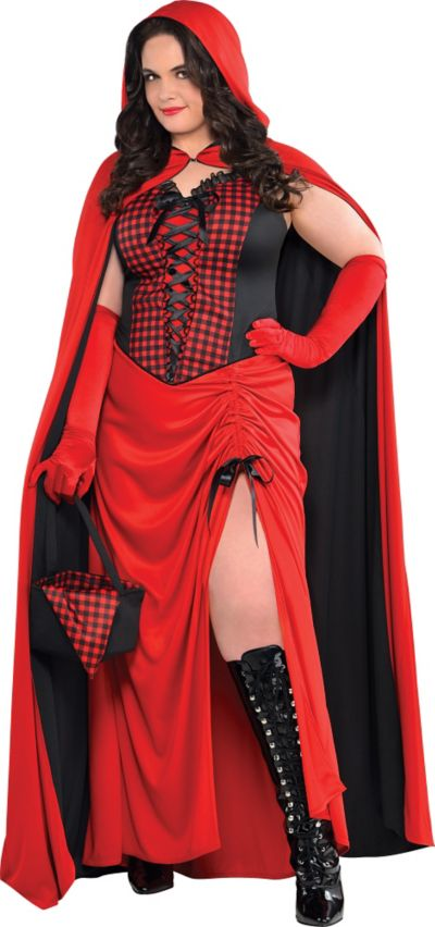 Adult Enchantress Red Riding Hood Costume Plus Size