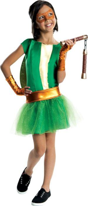 Girls Michelangelo Costume Deluxe - Teenage Mutant Ninja Turtles