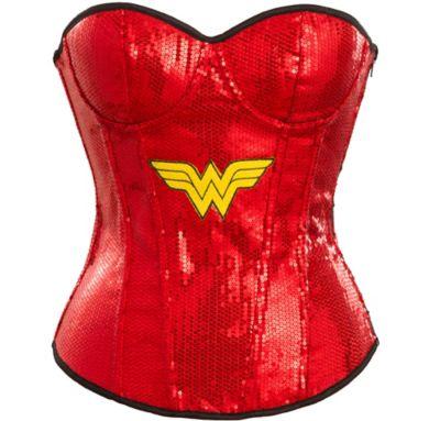 Adult Sequin Wonder Woman Corset