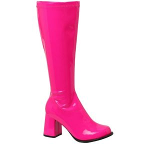 Adult Neon Fuchsia Go-Go Boots