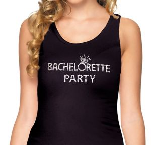 Rhinestone Bachelorette Party Tank Top