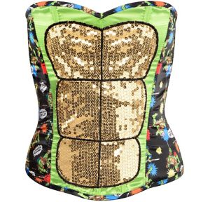 Sequin Teenage Mutant Ninja Turtles Corset