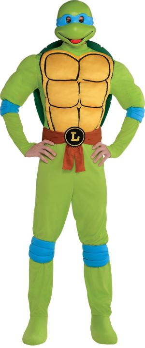 Adult Leonardo Muscle Costume - Teenage Mutant Ninja Turtles