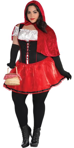 Adult Sassy Red Riding Hood Costume Plus Size
