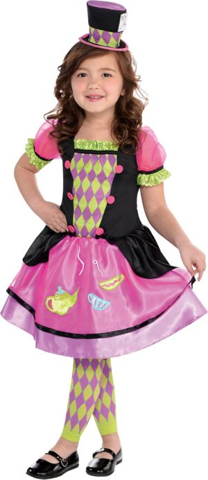 Toddler Girls Miss Mad Hatter Costume