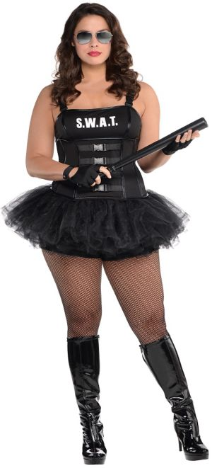 Adult Hot SWAT Costume Plus Size