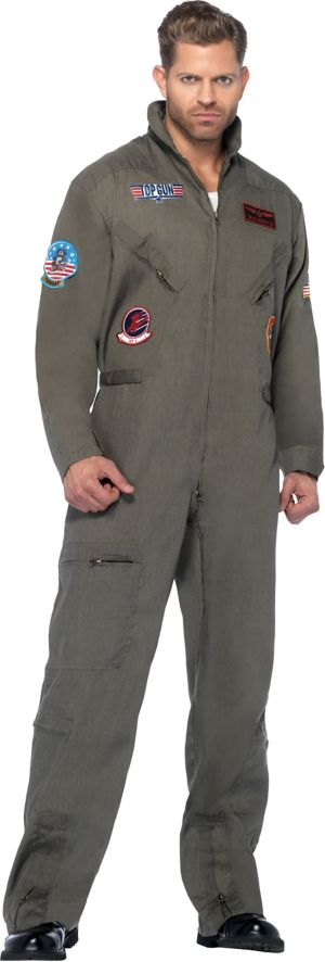 Adult Flight Suit Costume Plus Size - Top Gun