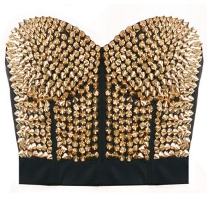 Gold Spiked Bustier