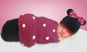 Baby Crochet Cocoon Minnie Mouse Costume