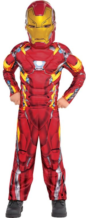 Little Boys Iron Man Muscle Costume - Captain America: Civil War
