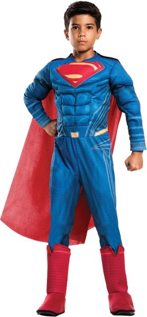 Boys Superman Muscle Costume Deluxe - Batman v Superman: Dawn of Justice