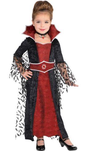 Little Girls Coffin Queen Vampire Costume