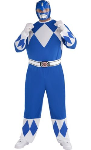 Adult Blue Power Ranger Costume Plus Size - Mighty Morphin Power Rangers