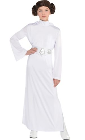 Girls Princess Leia Costume - Star Wars