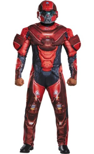 Adult Red Spartan Muscle Costume Plus Size - Halo