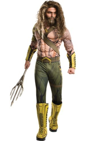 Adult Aquaman Muscle Costume - Batman v Superman: Dawn of Justice