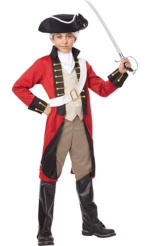 Boys British Red Coat Costume