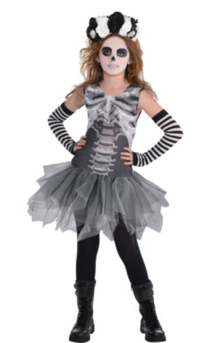 Girls Skeleton Costume