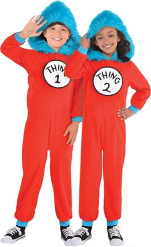Child Thing 1 & Thing 2 One Piece Costume - Dr. Seuss