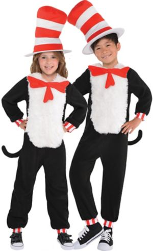 Child Cat in the Hat One Piece Costume - Dr. Seuss