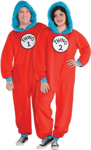 Adult Thing 1 & Thing 2 One Piece Costume - Dr. Seuss