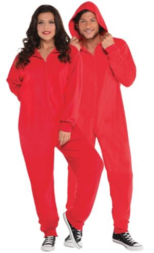 Adult Zipster Red One Piece Costume