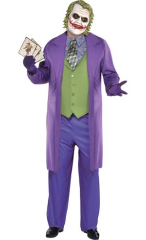 Adult Joker Costume Plus Size - The Dark Knight