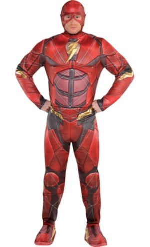 Adult The Flash Muscle Costume - Justice League Part 1