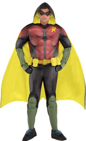 Adult Robin Muscle Costume Plus Size Premier - Arkham Knight