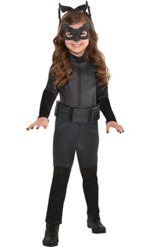 Little Girls Black Catwoman Costume - The Dark Knight Rises Batman
