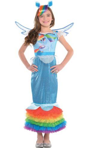 Girls Rainbow Dash Mermaid Costume - My Little Pony